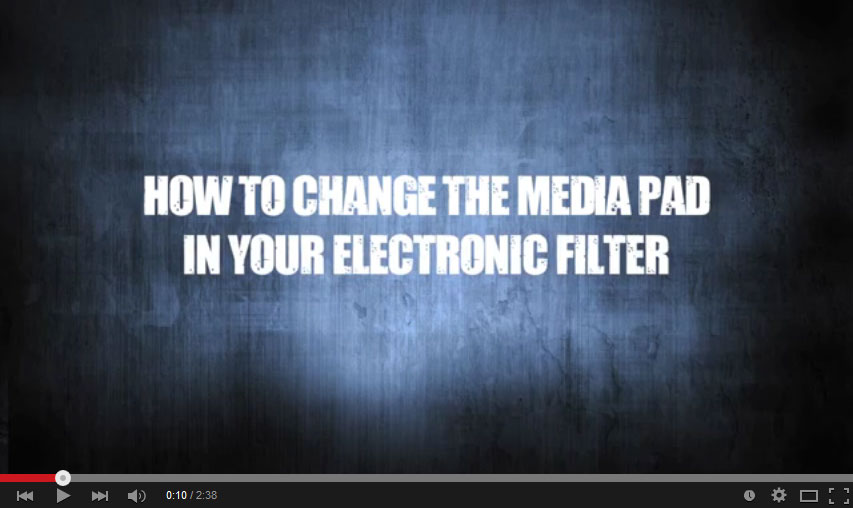 how to change the media pad in your electronic filter